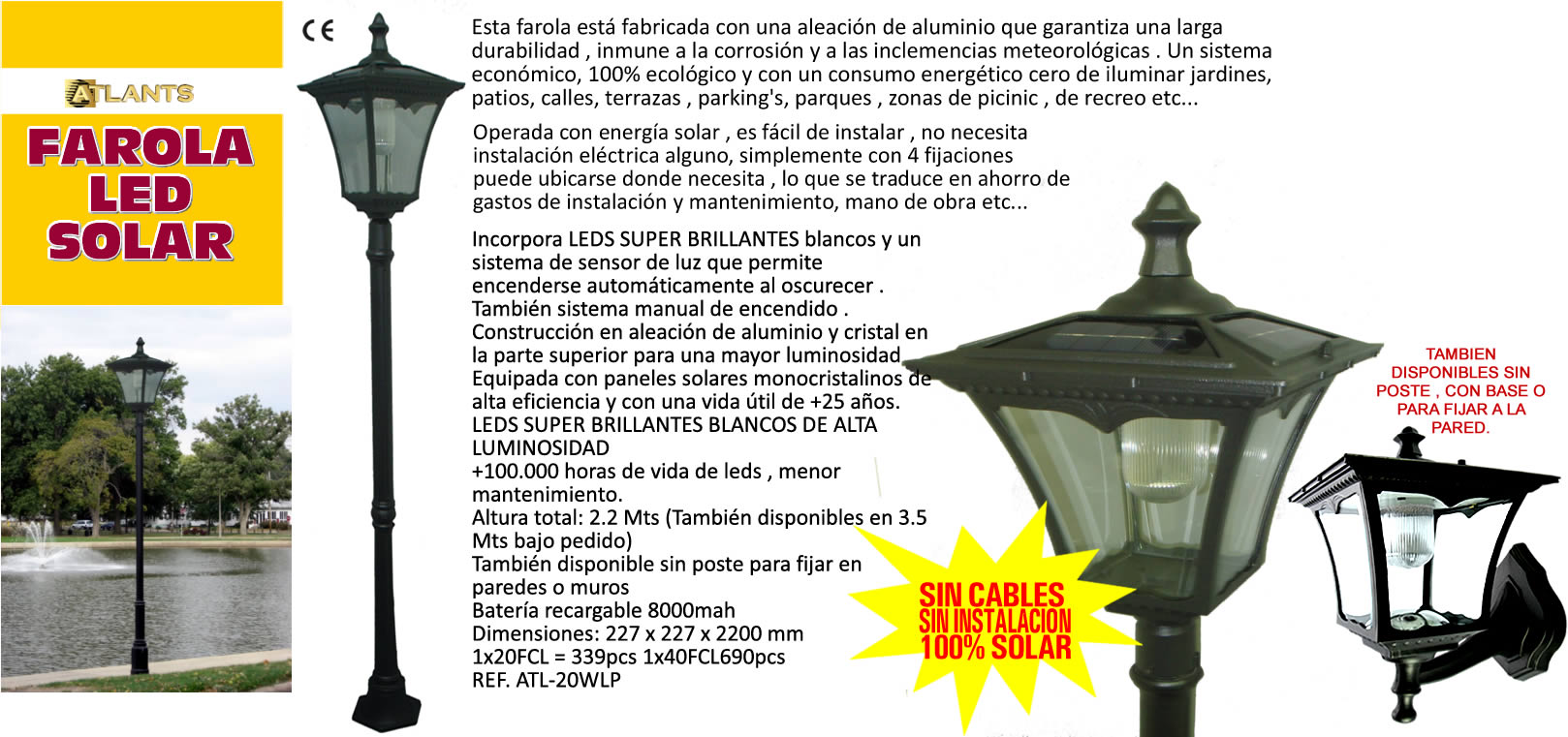 Products - Iluminacion jardin solar ...